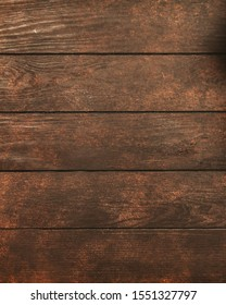 Wooden texture or background. Close up.Dark old wooden table texture background top view