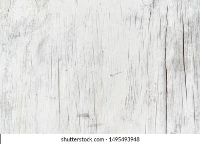 Wooden texture background. Old wood texture with white peeling paint. Different vertical lines. Background for text or design