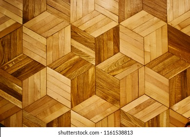 Wooden texture hexagon floor, seamless floor texture