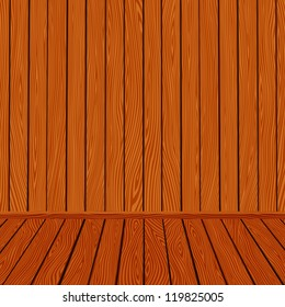 Wooden texture interior room background illustration