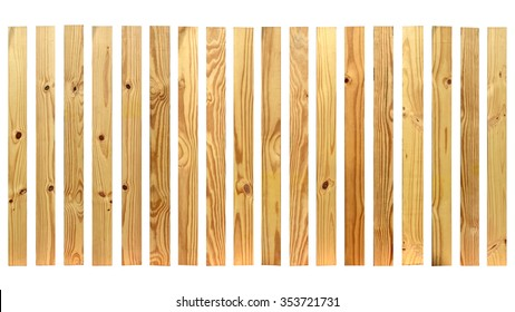 Wooden texture isolated on white background. This has clipping path.