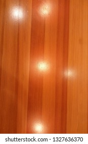 Wooden texture with many spots of celling lights