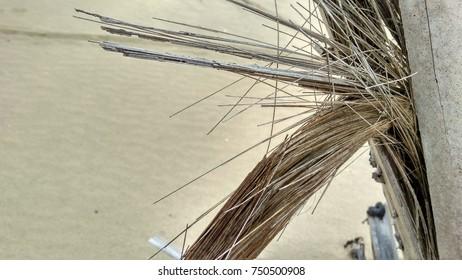 wooden texture patern in beach