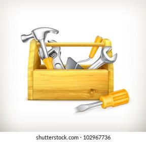 Wooden toolbox, bitmap copy