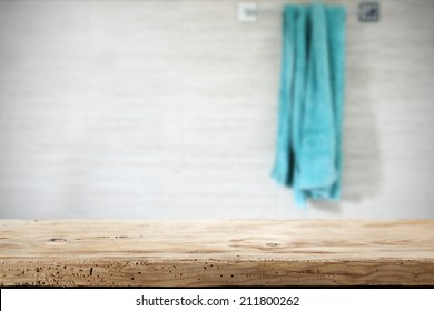 wooden top and towel