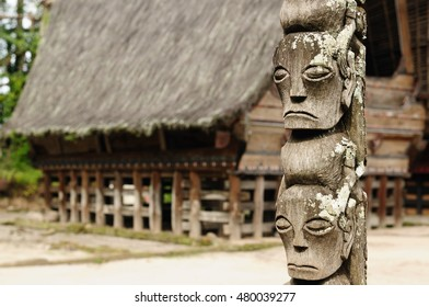 Wooden totem from Indonesia