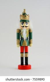 Wooden toy nutcracker soldier