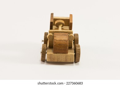 Wooden toy old car miniature