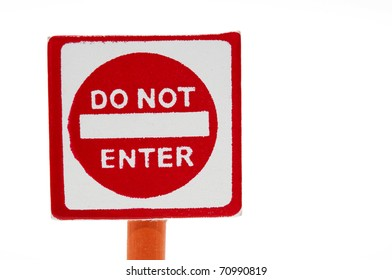 Wooden toy traffic sign: Do not enter