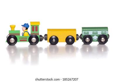 Wooden toy train studio cutout