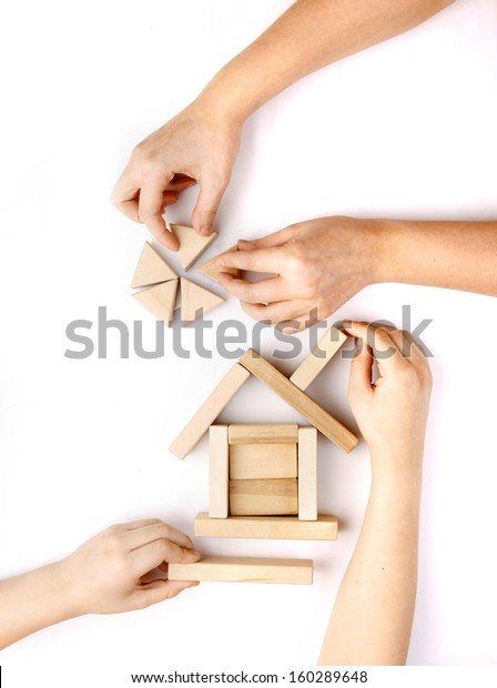 Wooden toys for the building