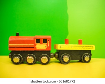 Wooden train a toy for kid in colorful color.