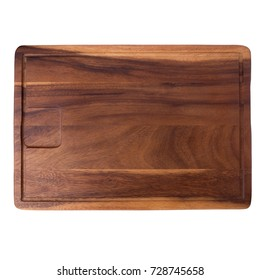 Wooden tray for Bread Paddle Isolated On a White Background.