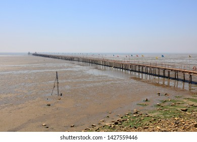Wooden trestle at the seaside
