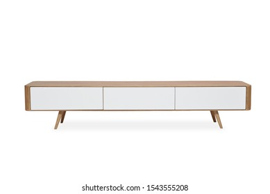 Wooden TV stand and drawer