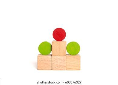 Wooden victory podium