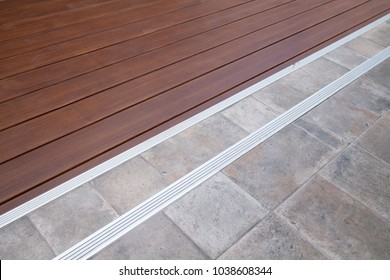 Wooden and vintage tiled floor