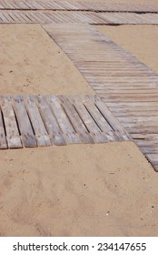 Wooden waling path at the beach