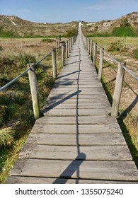 Wooden walk way in Rodanho beach, Viana do Castelo.
