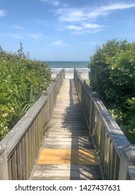 Wooden walkway to the beach.