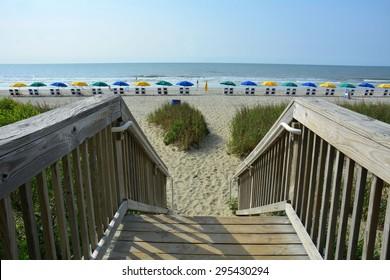 Wooden walkway / boardwalk to beach