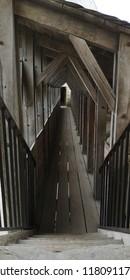Wooden walkway inside Cité de Carcassonne