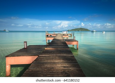 Wooden walkway and port