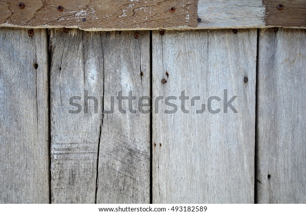 Wooden wall background texture from wooden planks.