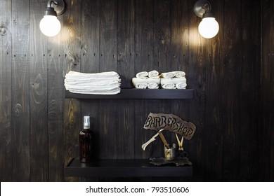 wooden wall in Barbershop
