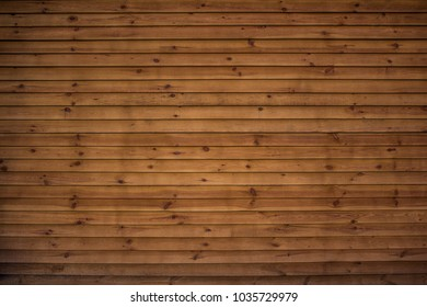 wooden wall of the blockhouse