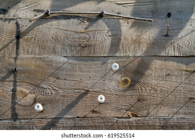 Wooden wall in close up