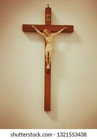 Wooden Wall Crucifix