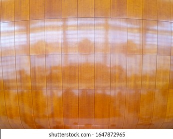 Wooden wall in the Danish Operahouse in Copenhagen. Taken during day and with reflections.