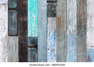 Wooden wall multicolor texture background