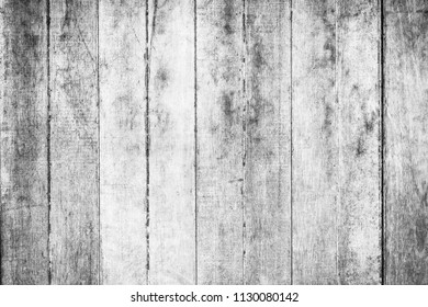 Wooden wall texture in black and white rustic background.