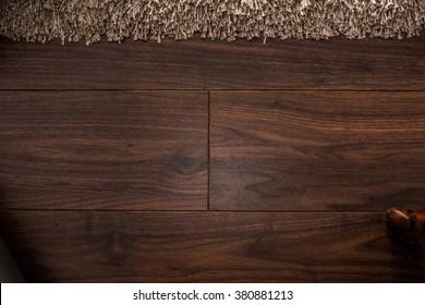 Wooden walnut textured floor