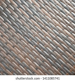 Wooden weave pattern forming an abstract seamless texture suitable as material in digital design for surface of basket and furniture such as chairs, sofa, tables and carpet,