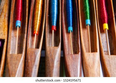 wooden weaving shuttle for silk