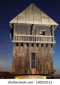 Wooden windmill in NESSEBAR, Bulgaria