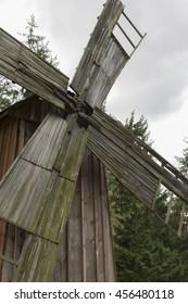 wooden windmill Poland 27 June 2016