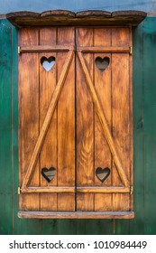 Wooden window and heart
