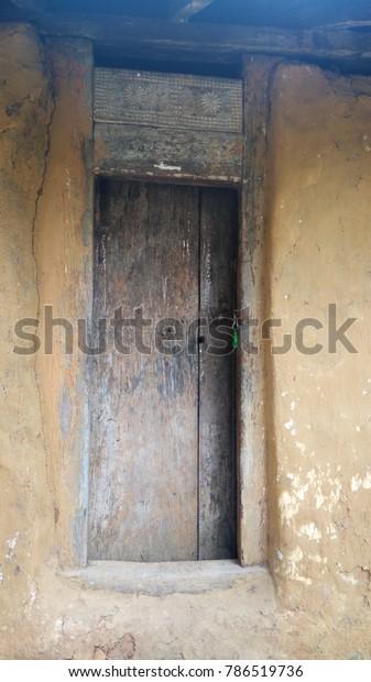 Wooden Window Old Village House Meemure Stock Photo (Edit
