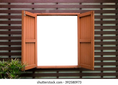 Wooden Windows with Space