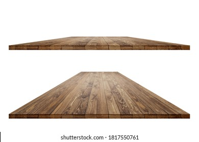 Wooden worktop surface with old natural pattern with clipping mask. Vintage wooden material surface.
