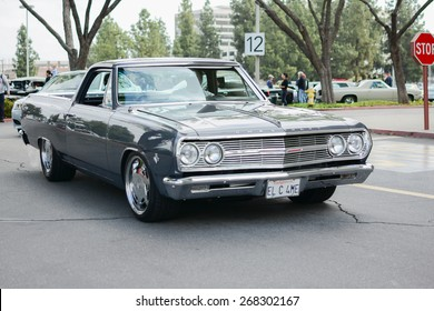 Woodland Hills, CA - Abril 5, 2015: Chevrolet El Camino classic car on display at the Supercar Sunday Pre-1973 Muscle car event.