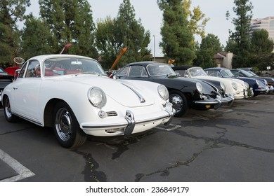 Woodland Hills, CA - December 7, 2014:  Porsche 356 B on display at the 11th Annual Motor4toys Charity Car Show and Toy Drive