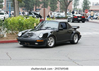 Woodland Hills, CA, USA - July 5, 2015: Porsche 911 car on display at the Supercar Sunday car event.