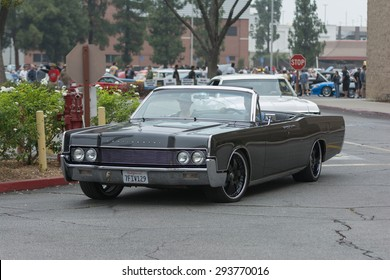 Woodland Hills, CA, USA - July 5, 2015: Lincoln Continental car on display at the Supercar Sunday car event.