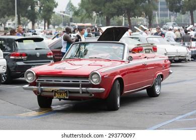 Woodland Hills, CA, USA - July 5, 2015: Dodge Dart car on display at the Supercar Sunday car event.