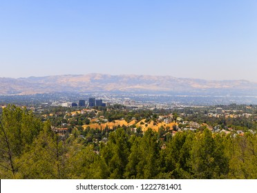 WOODLAND HILLS, CALIFORNIA, USA - MAY 28, 2017: View of Woodland Hills - seen from the Topanga Canyon Boulevard in Los Angeles.